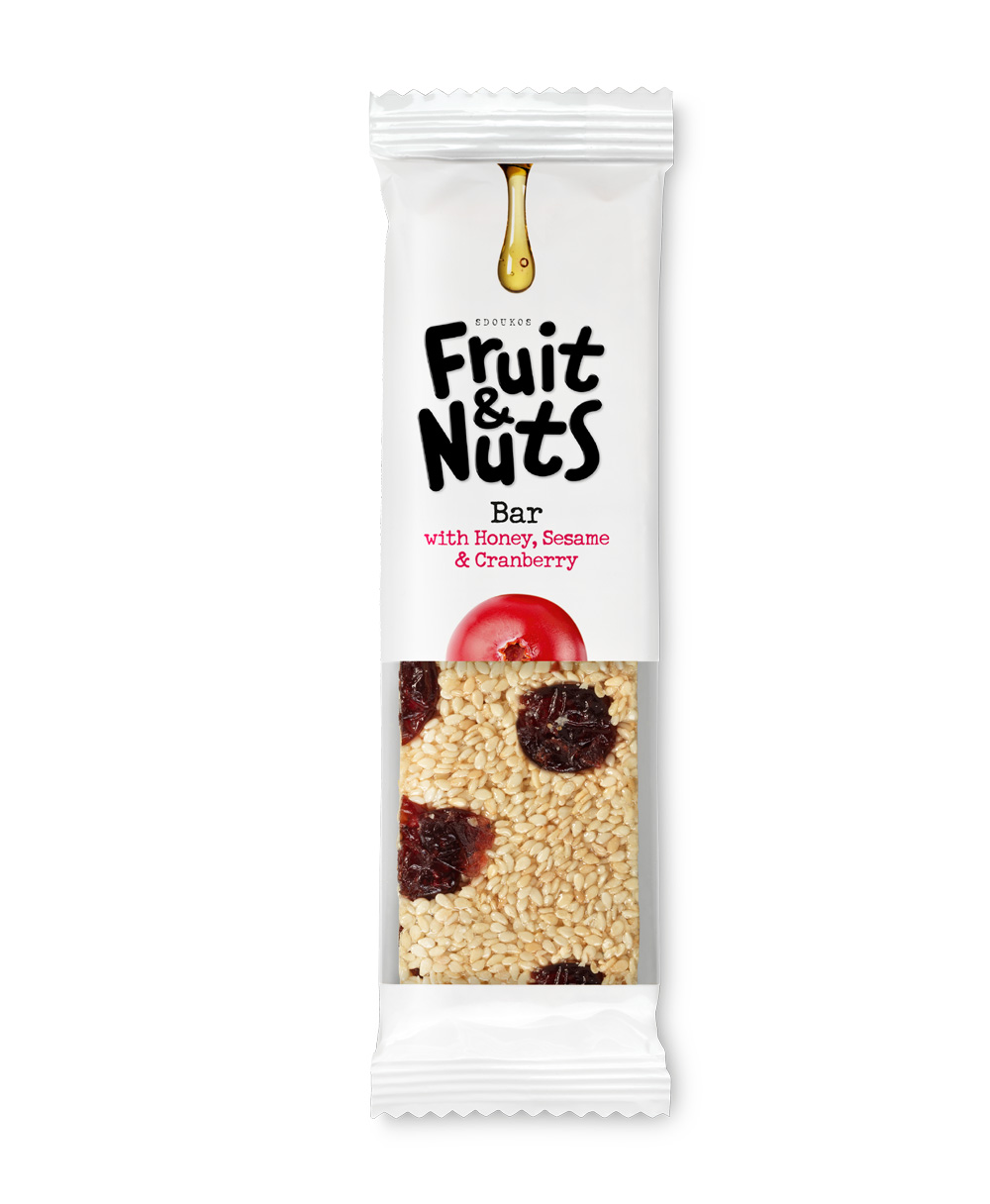 "PASTELI SESAME, HONEY AND CRANBERRY ""FRUIT & NUTS"" 40g"