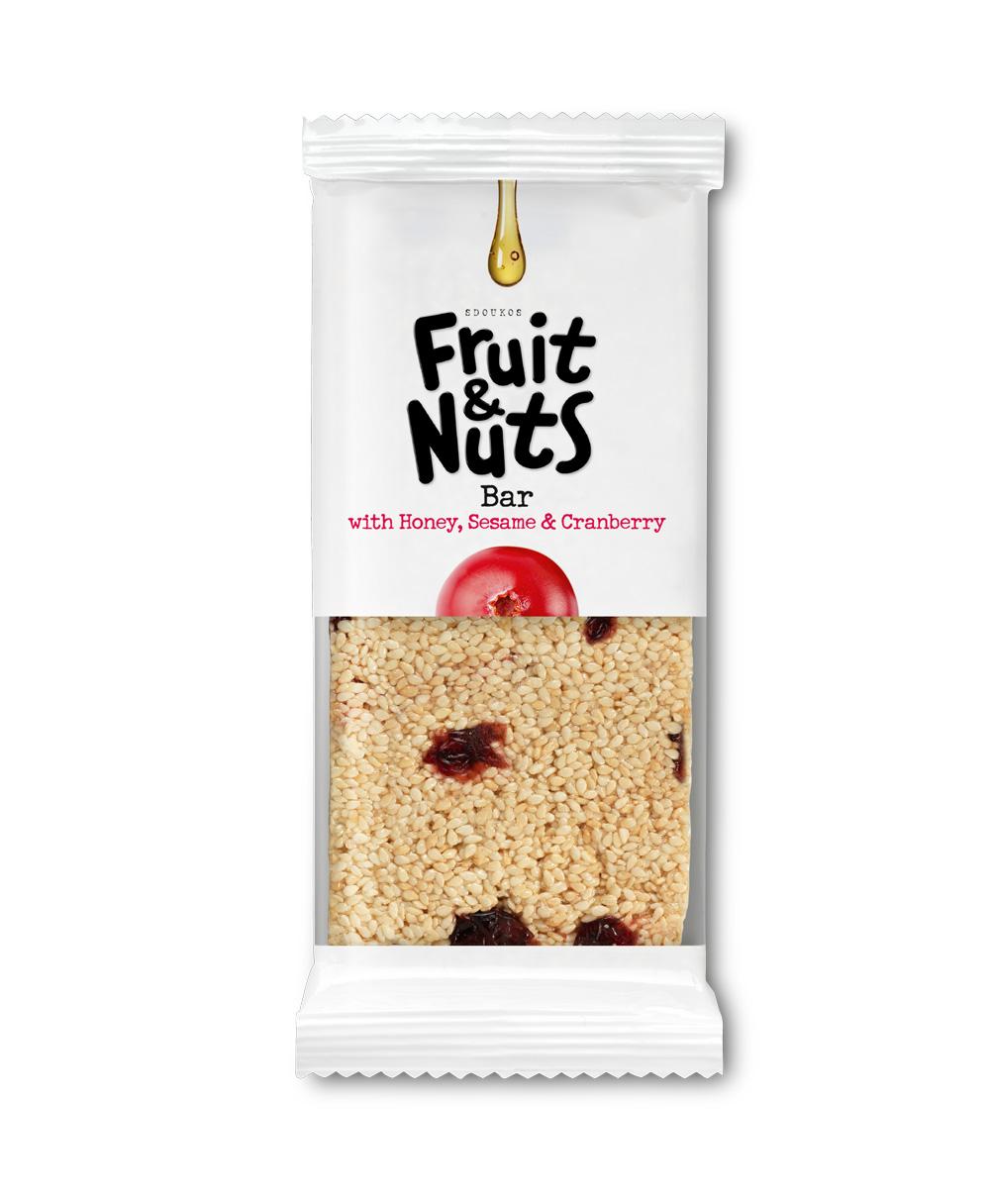 "PASTELI SESAME, HONEY AND CRANBERRY ""FRUIT & NUTS"" 70g"