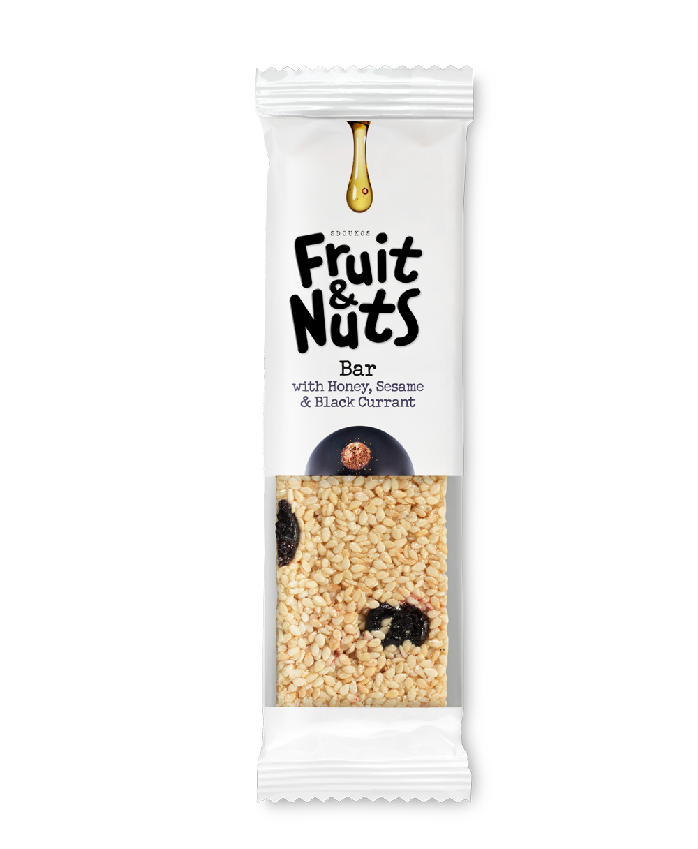 "PASTELI SESAME, HONEY AND BLACK CURRANT ""FRUIT & NUTS"" 40g"